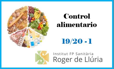 Control Alimentario  19/20  - 1